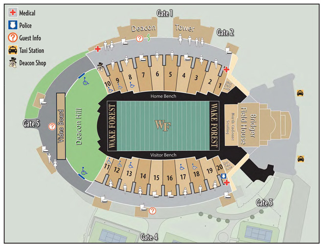 BB&T Field Concourse Map - Wake Forest University Athletics